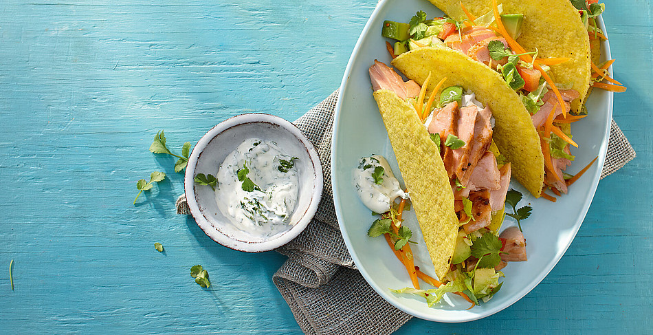 Tacos mit pulled salmon