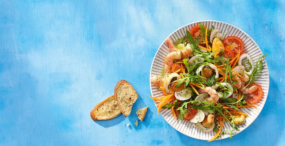 Gemischter Salat mit Frutti di Mare