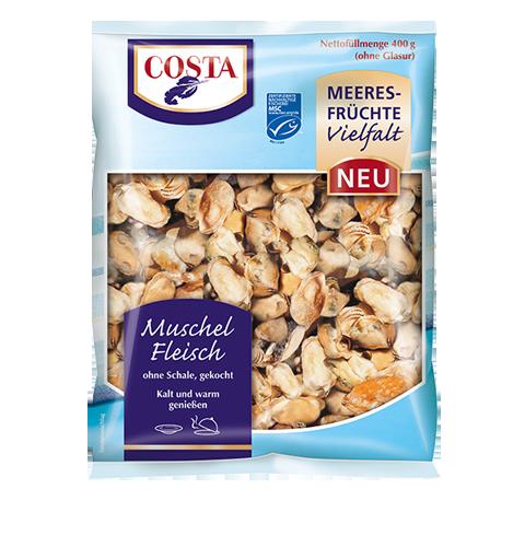 Eine Produktabbildung Muschelfleisch von COSTA Meeresspezialitäten