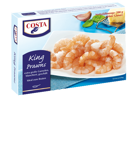 Eine Produktabbildung King Prawns von COSTA Meeresspezialitäten