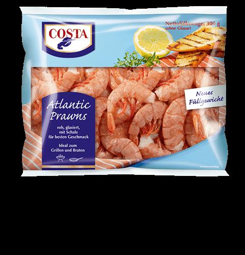 Eine Produktabbildung Atlantic Prawns von COSTA Meeresspezialitäten
