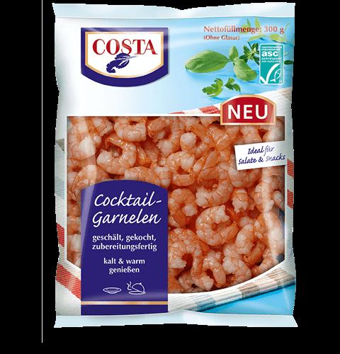 Eine Produktabbildung Cocktail Garnelen von COSTA Meeresspezialitäten