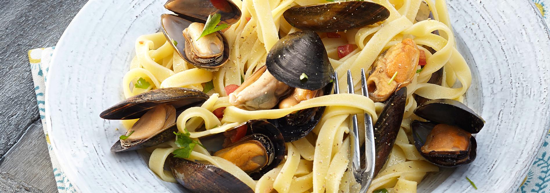 Rezeptfoto Spaghetti mit Miesmuscheln von COSTA Meeresspezialitäten
