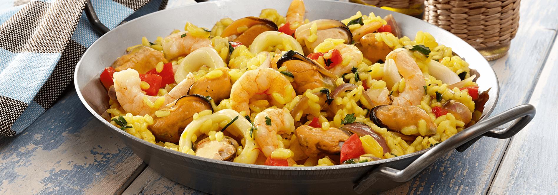 Rezeptfoto Paella mit Meeresfrüchten von COSTA Meeresspezialitäten