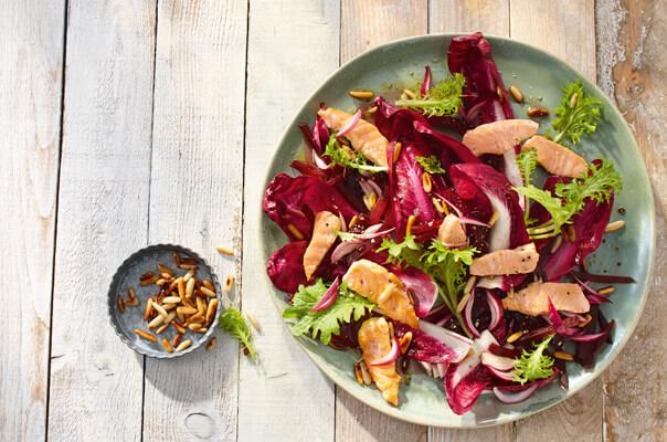 Rote Beete Salat mit Lachs