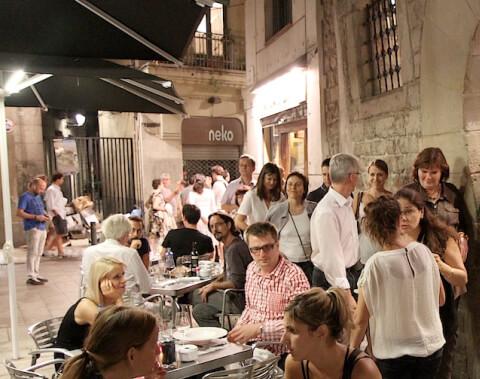 Menschen in Barcelona